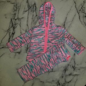 KoalaKids Teal and Pink Jumpsuit